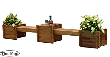 Amazoncom Organic gardening wood Planter box Bench Table