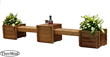 Fabulous Amazon Com Organic Gardening Wood Planter Box Bench Table Uwap Interior Chair Design Uwaporg