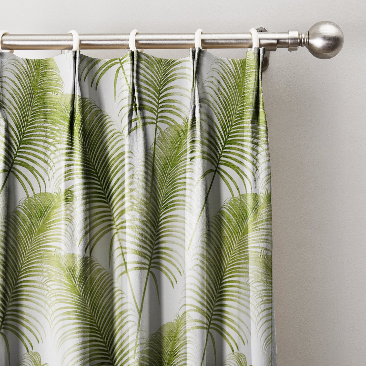 Green Leaves Print Curtain 120''W x 96''L, Pinch Pleat Blackout Lining Darpes Panel For Bedroom Living Room Hotel Restaurant (1 Panel)