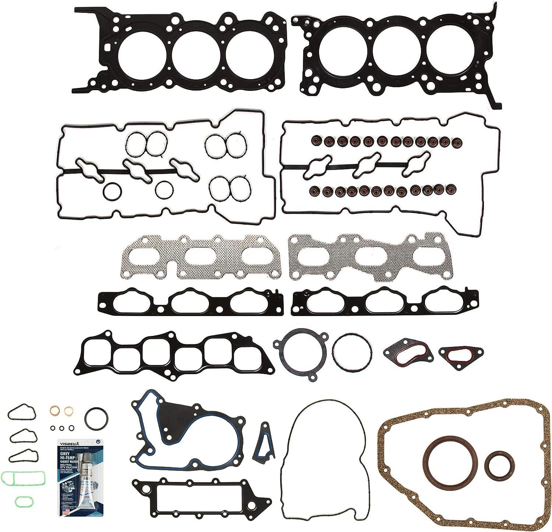 Evergreen FS55044 Full Gasket Set Fit 06-04//20//07 Hyundai Azera Santa Fe Sonata 3.3 DOHC G6DB