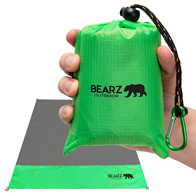 BEARZ Travel Compact Pocket Blanket 55″x60″ - Compact and Multipurpose