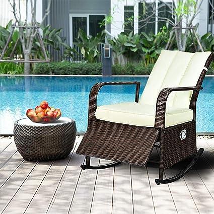 Amazon.com: Sillón reclinable de mimbre para exteriores ...