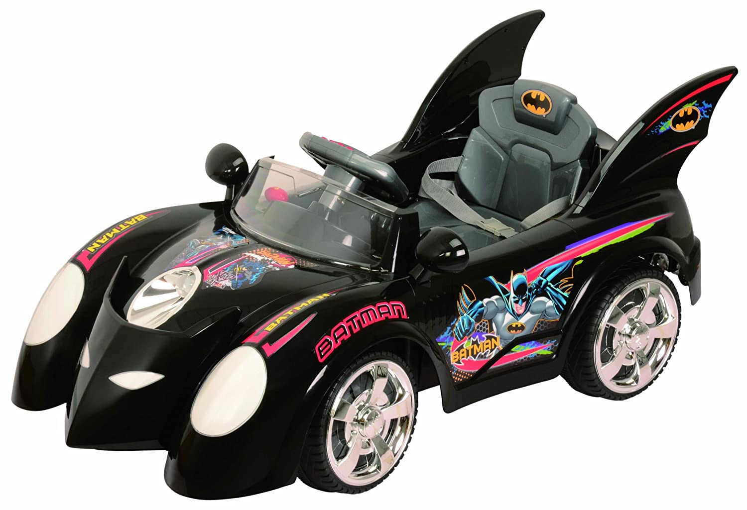 amazoncom best ride on cars 662r 6v batmobile black childrens push ride ons baby