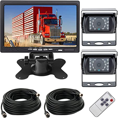 Reversing Camera Kit 12 24v 4 Pin 2x 18leds Waterproof Amazon Co Uk Electronics