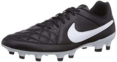 new arrival a278a e7177 Nike Tiempo Genio Leather FG, Herren Fußballschuhe, Schwarz (BlackWhite),