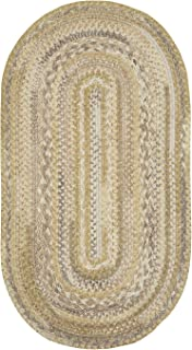 "product image for Capel Harborview Natural 0' 24"" x 0' 36"" Oval Braided Rug"