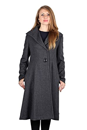 Amazon.com: Vera Wang Woman's Charcoal Gray Wool Blend Fit & Flare ...