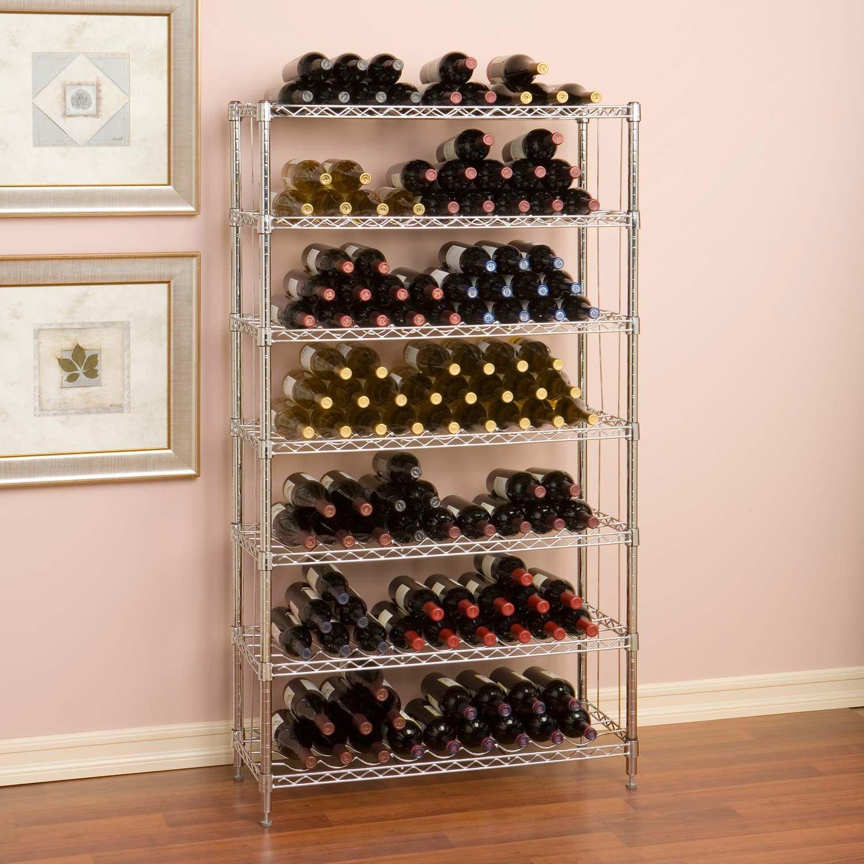 168 Bottle Wine Rack commercial industrial storage organizer wine bottles restaurant
