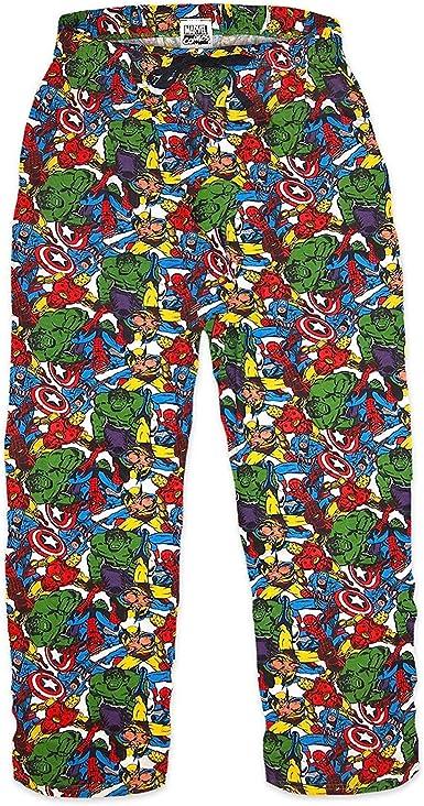 MARVEL COMICS - Superhéroes - Hombre Oficial Pantalones de ...