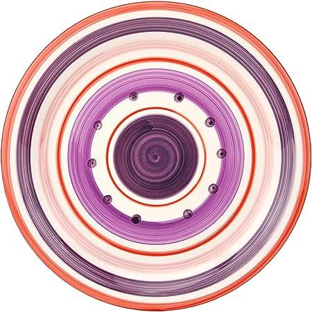 Violett /& Rosa im Mediterranen-Stil Rose/&Tulipani Rot Unitable Dessertteller Cefalu