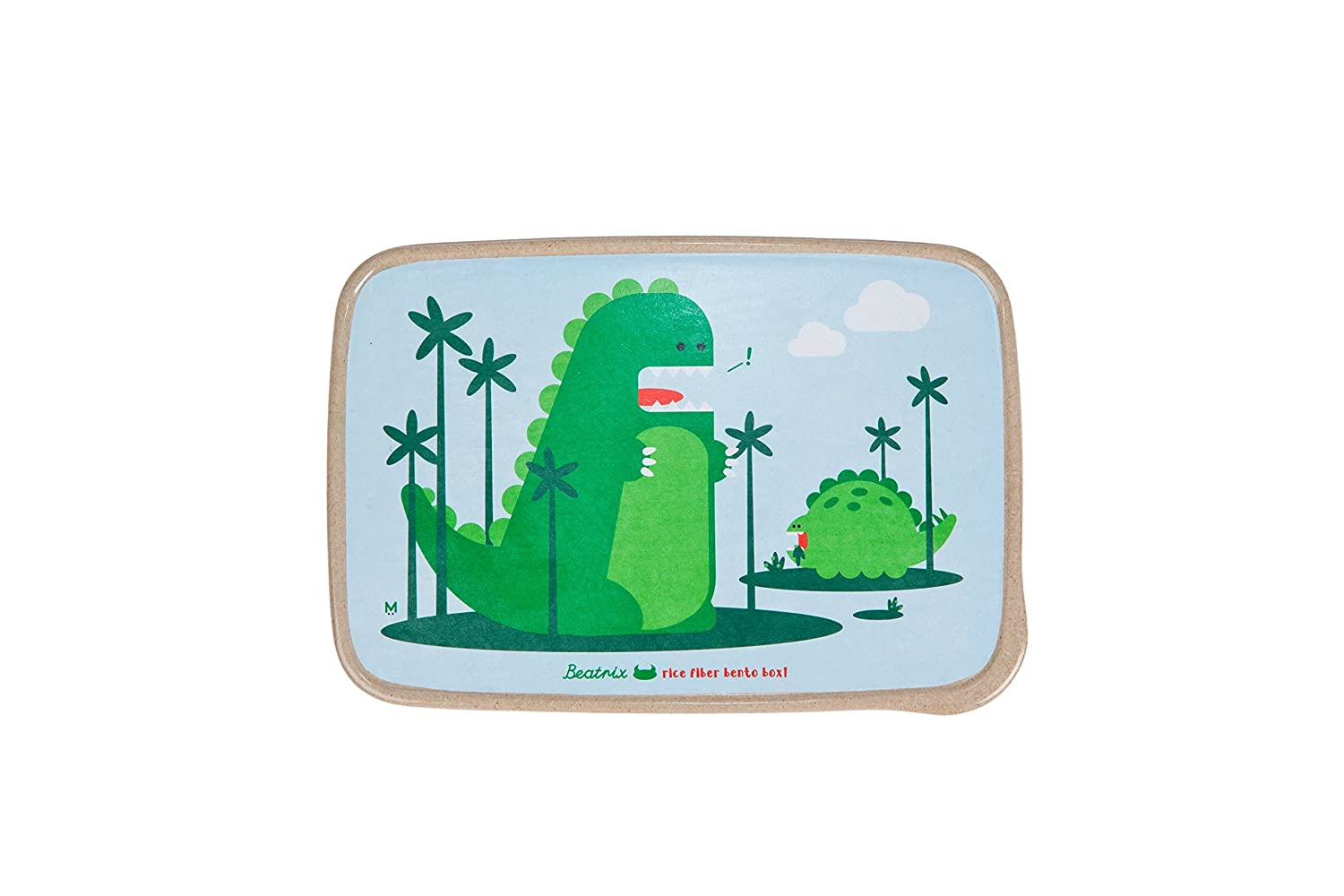 Beatrix New York Rice Fiber Bento Box: Percival and Alister (Dinos), Green, One Size by Beatrix New York   B01CI24CJW
