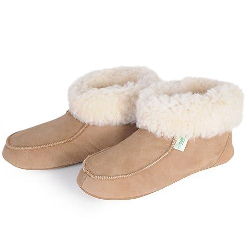 FELLHOF Lammfell-Schuhe, beige