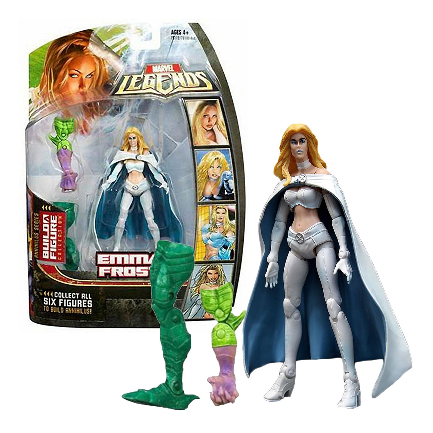 Hasbro Year 2006 Marvel Legends Build A Figure Annihilus Series 6 Inch Tall Action Figure - EMMA FROST with Removable B00UF9SMFQ