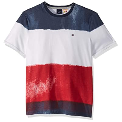 Tommy Hilfiger Men's Adaptive T Shirt with Magnetic Buttons at Shoulders at Men's Clothing store