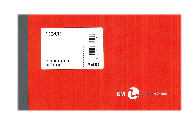 Blocco ricevute generiche Bm 50 fogli 2 copie autocopiante 10x17cm art260 BM 0100145