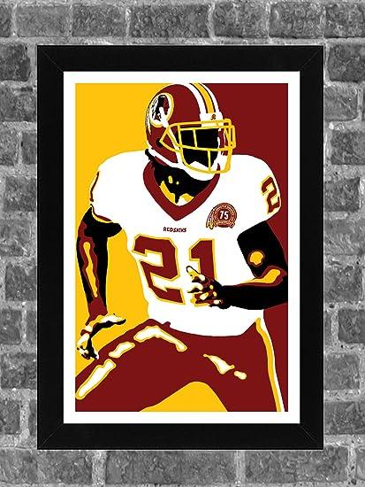 reputable site 0c219 c5e1b Washington Redskins Sean Taylor Portrait Sports Print Art 11x17