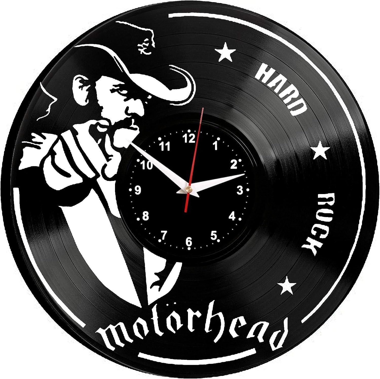 WoD Motorhead Horloge Murale en Vinyle avec Plaque sonore r/étro