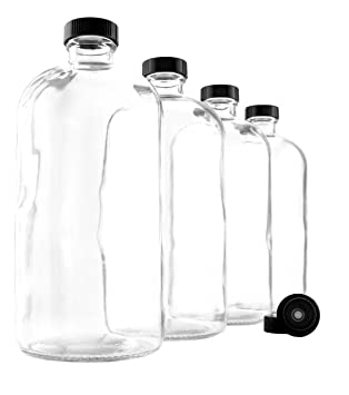 900 ml Claro Kombucha Growler botellas (Pack de 4 unidades); 1 Quart Botellas