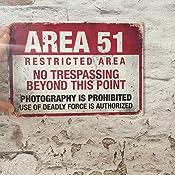 Alien Cirrus Zone 51/ /Plaque Murale en m/étal/ Conspiration Th/éorie /Attention