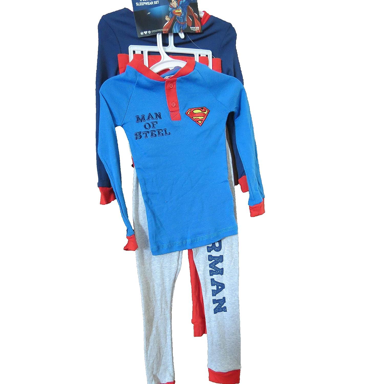 Superman Clark Kent Sleepwear Pajamas Youth 4 pc Set Size 10