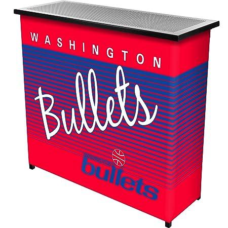 NBA Washington Bullets Portable Bar with Case, One Size, Black
