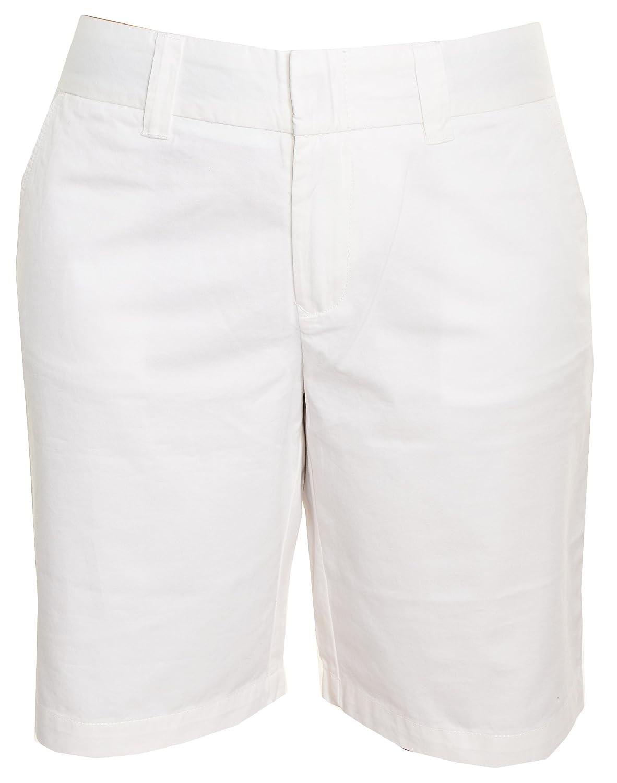 Tommy Hilfiger Womens Walking Shorts (White, 6)