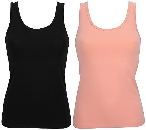 Ex Store–Pack de camisetas de tirantes para mujer, de algodón