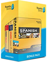 Learn Spanish: Rosetta Stone Bonus Pack (Lifetime Online Access + Book Set)