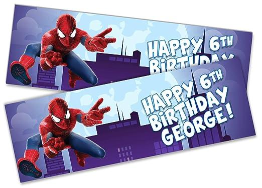 2 pancartas de cumpleaños personalizadas con diseño de ...