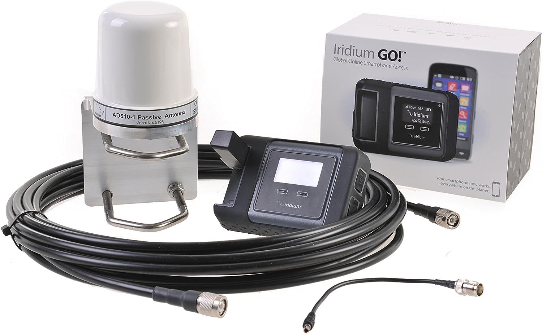 Iridium Go! Paquete marítimo incluye Antena externa AD-510 , cable y tarjeta SIM