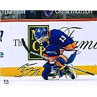 "$69 » Mathew Barzal New York Islanders Autographed 8"" x 10"" Blue Jersey Goal Celebration Photograph - Autographed NHL Photos"
