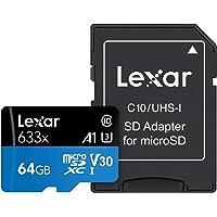 Tarjeta Lexar High-Performance 64GB 633x microSDXC UHS-I -LSDMI64GBBEU633A
