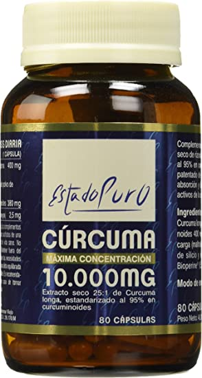 Image ofTong-Il 001200254 Complemento Alimenticio Cúrcuma, 10.000 mg, 80 Cápsulas