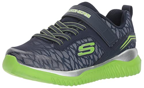 Skechers Turboshift-Ultraflector, Zapatillas sin Cordones para Niños, Azul (Navy/Lime), 33 EU