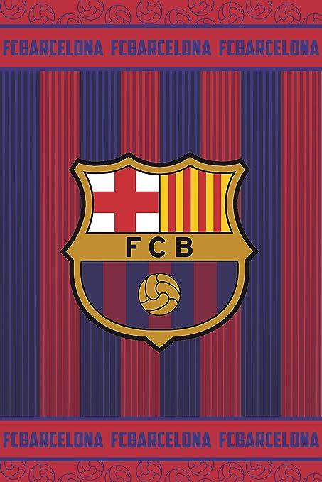 FC Barcelona Manta Polar FCB162, 100 x150 cm, Azulgrana: Amazon.es: Hogar