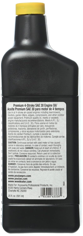 Poulan Pro cortacésped del aceite del motor 30 W 20oz pp60019 ...
