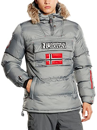 Geographical Norway Bolide, Chaqueta Bomber para Hombre, Gris (Grey), Large: Amazon.es: Ropa y accesorios