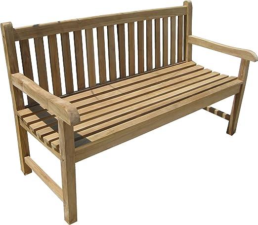 CHICREAT - Banco de cuatro asientos de madera de teca, banco de jardín de madera de teca, aproximadamente 180 cm de ancho: Amazon.es: Jardín