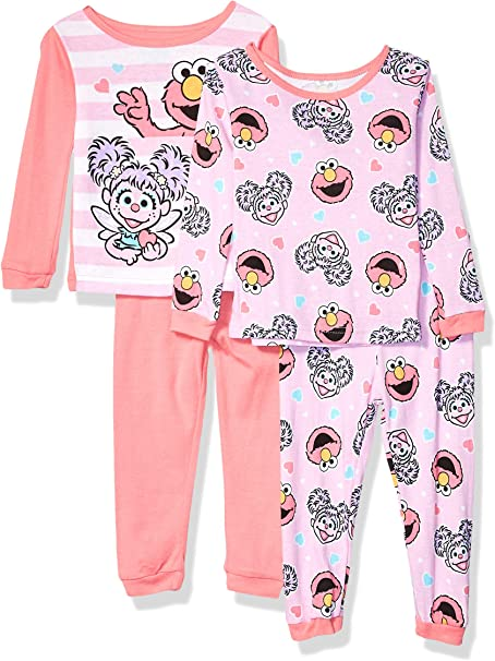 Sesame Street Sleep Pajamas Longsleeve Abby Cadabby Elmo Outfit Girls 18 Months