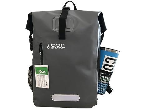 COR Zaino impermeabile da 25L con tasca imbottita per portatile, capacita'  25 litri,