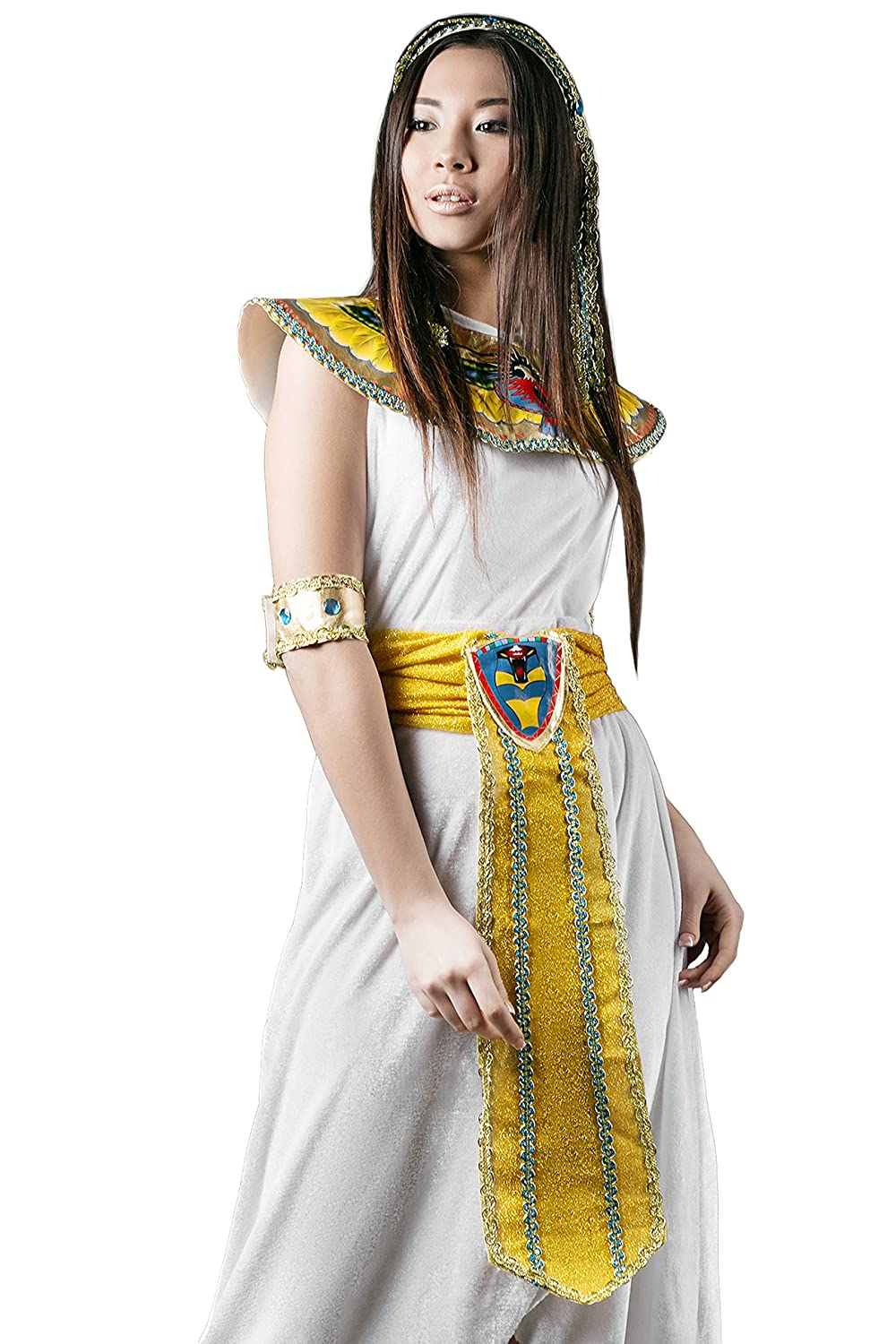 Adult Women Cleopatra Halloween Costume Great Isis Egyptian Dress Up u0026 Role Play  sc 1 st  Amazon.com & Amazon.com: Adult Women Hatshepsut Halloween Costume Egyptian ...