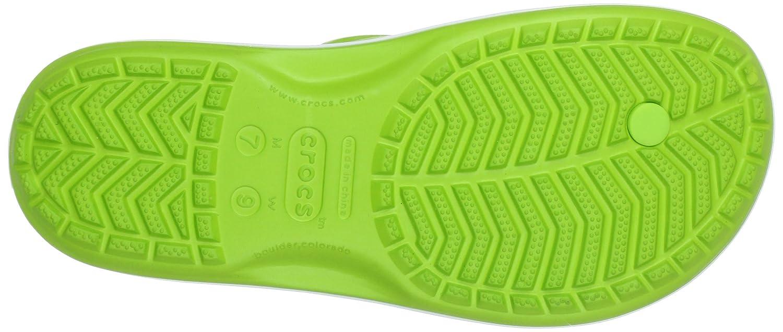 Crocs Unisex-Erwachsene Crocband Zehentrenner Flip Zehentrenner Crocband Grün (Volt Grün/Weiß) d6c85f