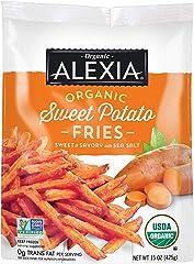 Alexia Organic Sweet Potato Fries Sweet & Savory with Sea Salt, Non-GMO Ingredients, 15 oz (Frozen)