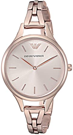f8325c377aaf Image Unavailable. Image not available for. Color  Emporio Armani Women s  Dress Watch Quartz Stainless-Steel ...