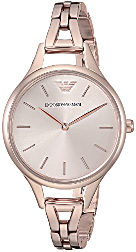 72e0fc46e7 Emporio Armani Womens Analogue Quartz Watch with Stainless Steel Strap  AR11055: Amazon.co.uk: Watches
