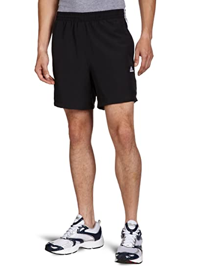 adidas Essentials 3-Stripes Chelsea - Pantalones Cortos para Hombre, Color Negro/Blanco
