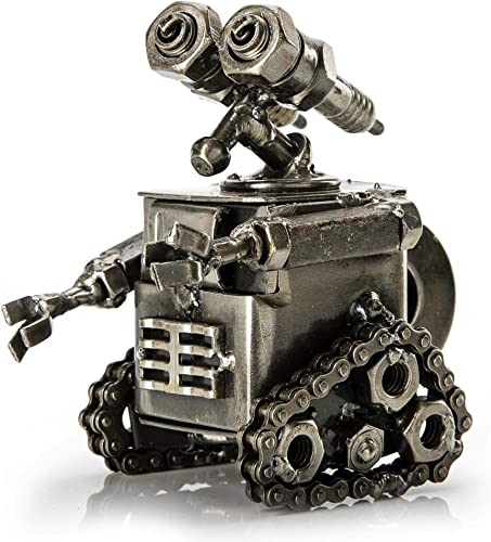 KALIFANO Wall-E Inspired Recycled Metal Sculpture Handcrafted from Scrap Metal