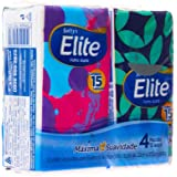 Lenço de Papel Elite Softy'S Máxima Suavidade 4 Pacotes com 15Fls Cada, Elite, Azul, 4 Unidades