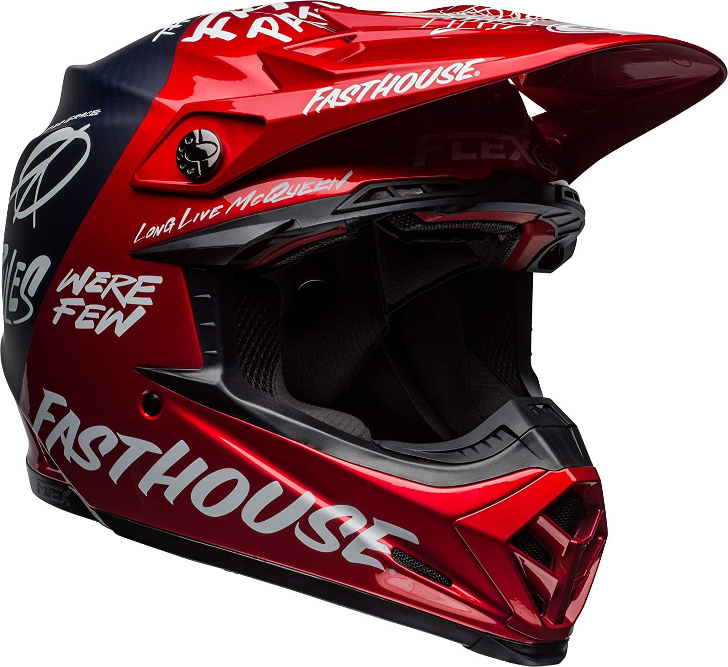 promo codes new style the best Bell Moto-9 Flex Off-Road Motorcycle Helmet (Fasthouse DITD Matte/Gloss Red  Navy, Medium)