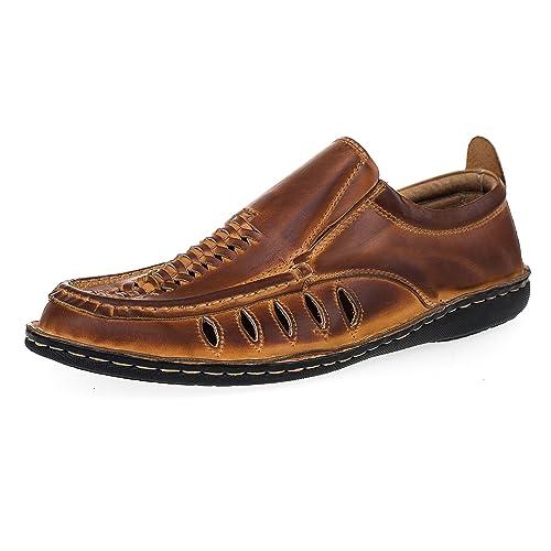 Verano Zapatos Ideales 012 Hombre Cuero Para Ks HwU78n0H